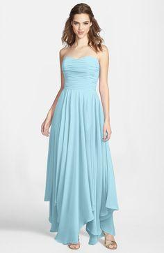 Aqua Gorgeous Princess Sweetheart Sleeveless Asymmetric Bridesmaid Dresses