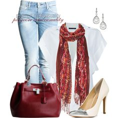 """""""Denim & Toe Cap Pumps"""" by casuality on Polyvore"""