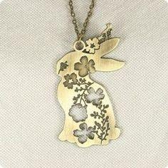 Rabbit pendant necklace - Necklaces StarryGroove.com ...