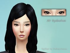 The Sims Resource: 2D Eyelashes by kimikoprincess • Sims 4 Downloads