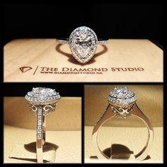 Vintage Pear Shaped Diamond