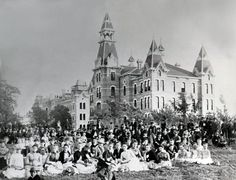 Amazing how recognizable campus is 130 years later... #Baylor University, circa 1888 (via @Baylor_AandS)