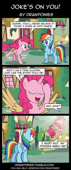 Jokes On You by drawponies on DeviantArt