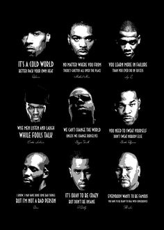 """Beautiful """"Hip Hop Legends Part metal poster created by BGW Beegeedoubleyou. Our Displate metal prints will make your walls awesome. Rapper Quotes, Rapper Art, Chance The Rapper Wallpaper, Black History T Shirts, Music And The Brain, History Of Hip Hop, Hip Hop Lyrics, One Word Quotes, Hip Hop Quotes"""