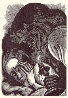 """""""Jane Eyre"""" - Ill.  Fritz Eichenberg (1943)"""