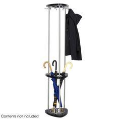 Safco 4214BL Mode™ Wood Costumer With Umbrella Rack