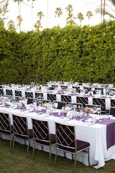 La Tavola Fine Linen Rental: Tuscany Eggplant Table Runner