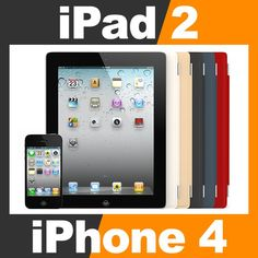 Apple iPhone 4 and iPad 2 with Smart Cover by cgshape. Realistic 12d7b584d36