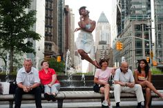 Back in 2010, we came across the uplifting series Dancers Among Us where photographer Jordan Matter took pictures of dancers jumping, spinning, lifting, and kicking in the midst of everyday life. Matter does not use Photoshop, his fresh and original photos are all captured in camera. In fact, you can watch a fun, behind-the-scenes video of Matter hard at work here:http://vimeo.com/51149314