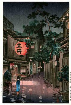 """Evening at Ushigome"" by Tsuchiya Koitsu"