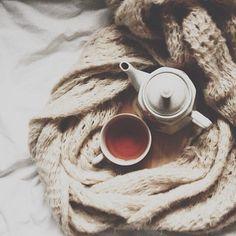 tea in bed.
