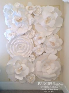 Huge Paper Flower Display Package As seen on by FancifulDesign Paper Flower Art, Paper Flowers Craft, Paper Flower Tutorial, Flower Crafts, Tissue Flowers, Giant Paper Flowers, Diy Flowers, Flower Wall Backdrop, Paper Flower Backdrop