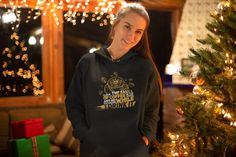 Items similar to Holiday Hoodie - Unisex Christmas Hoodie - Jingle all the Way, Nobody likes a Half Assed Jingler, Funny Holiday sweater, Sarcastic Hoodie on Etsy Christmas Jumpers, Christmas Shirts, Christmas Hoodie, Christmas Holiday, Reindeer Christmas, Christmas Fashion, Funny Christmas, Christmas Cakes, Family Christmas