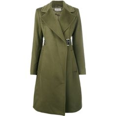 Sportmax belted trench coat ($1,490) ❤ liked on Polyvore featuring outerwear, coats, green, sportmax, sportmax coat, green coats, belted coats and trench coats