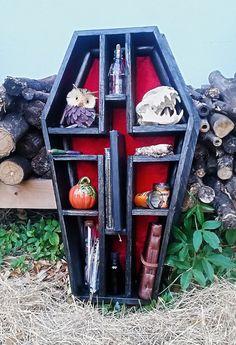 Coffin Shelf Cross Shelf Gothic Shelf by LifeAfterDeathDesign