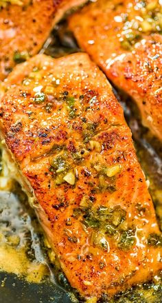 This recipe is a true delight. The pan-seared, Cajun-seasoned salmon covered with garlic-butter sauce is simple, elegant, and delicious. Are you in? FOLLOW Cooktoria for more deliciousness! #salmon #fish #dinner #keto #ketorecipe #ketodiet #lowcarb #easydinner #recipeoftheday