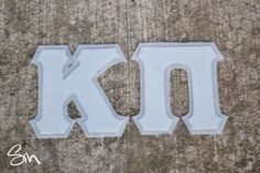Stephanie Messick Design and Photography, Northern Virginia: DIY Sorority and Fraternity Letters Sigma Alpha Omega, Phi Sigma Pi, Delta Sorority, Sorority Letters, Alpha Sigma Alpha, Sorority Crafts, Diy Letters, Kappa Delta, Sorority Life