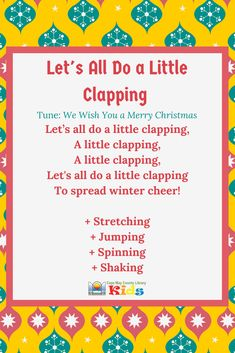 Such a fun action rhyme for the winter season! This song can easily be accompanied by shaky eggs and scarves! - Kids education and learning acts Music Activities, Preschool Activities, Winter Songs For Preschool, Fingerplays For Preschoolers, Spring Songs For Kids, Christmas Songs For Toddlers, Preschool Christmas Songs, Transition Songs For Preschool, January Preschool Themes