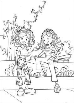 Groovy Girls Målarbilder för barn. Teckningar online till skriv ut. Nº 19