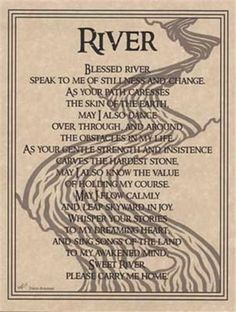 River Prayer Parchment Page for Book of Shadows!  pagan wicca witch picclick.com