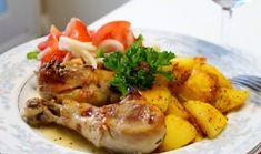 Cooking with Zoki: Piletina na grčki način Feta, Shrimp, Cooking Recipes, Meal, Cooker Recipes, Recipies, Recipes