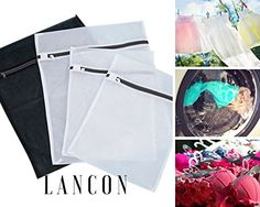 Laundry Bags for Delicates by LANCON  Set of 4 2 Large  2 Medium Premium Delicates Wash Bag for Baby Clothes Lingerie Bras and More ** Be sure to check out this awesome product.