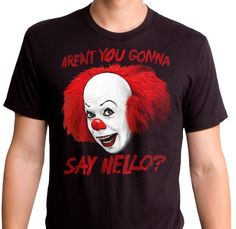Pennywise Say Hello T-Shirt - Stephen King s IT T-Shirt Camisetas Para  Hombre d344905e3f1c5