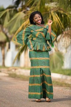 Classy picture collection of Beautiful Ankara Skirt And Blouse Styles These are the most beautiful ankara skirt and blouse trending at the moment. If you must rock anything ankara skirt and blouse styles and design. African Fashion Ankara, Latest African Fashion Dresses, African Dresses For Women, African Print Fashion, African Attire, African Women, African Prints, African Fabric, African Art