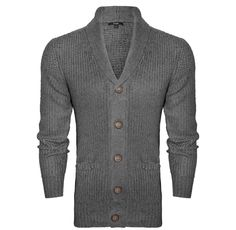 Buttoned cardi with high neck