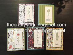 the crafty yogi: Flowering Fields Stamps With Wildflower Fields DSP
