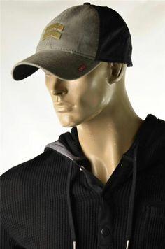 a92a749d843 A. Kurtz Hats Mens Black 6 Panel Military Inspired Cap Baseball Hat NWT OS  Flex