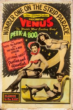 Vintage Burlesque Movie Poster. American Artist (20th Century)