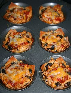 Taco Cupcakes....what fun!  Making for a picnic tonight!