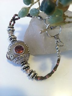 Handmade bracelet by Yvette, $17.00.  For more information, please click the link below.