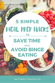 """Meal prepping is a really great way to remove the barrier of having to make a food decision in the heat of a '""""hangry'"""" moment (believe me, it's a real thing and it's not fun for anyone)."""
