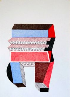 Big 8, by Nathalie Du Pasquier, drawing 2014 Thinking with a Brush: interview with Nathalie Du Pasquier - #Artemest #NathalieDuPasquier