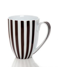 <p>The Brown & White Stripe Mug is an essential addition to your list of luxury gifts for all of the Bendel Girls you know…especially yourself! Featuring our iconic stripes and Henri's signature on the handle, this porcelain mug is a chic and charming choice for your morning coffee or any other beverage you enjoy.</p>