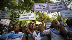 India: Woman gang-raped n orders of 'Kangaroo Court'. Police in India's West Bengal state have held 13 people in connection with a gang rape of a woman allegedly on orders of village elders who objected to her relationship with a man.   Demonstration against rape in India
