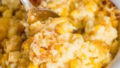5 Ingredient Corn Casserole Recipe {with Jiffy Mix} - Tastes of Lizzy T Easy Corn Recipes, Jiffy Recipes, Easy Casserole Recipes, Casserole Ideas, Yummy Recipes, Yummy Food, Hashbrown Casserole, Creamy Corn Casserole, Recipes