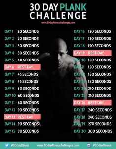 30-day plank challenge: 5 minute max