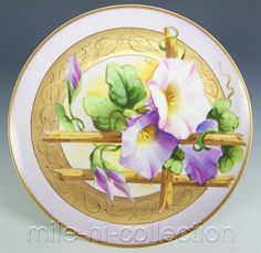 Lovely Limoges Pickard Hand Painted Morning Glory Plate | eBay