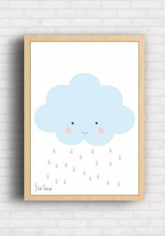 Poster Infantil Nuvem - Suh Riediger SR009