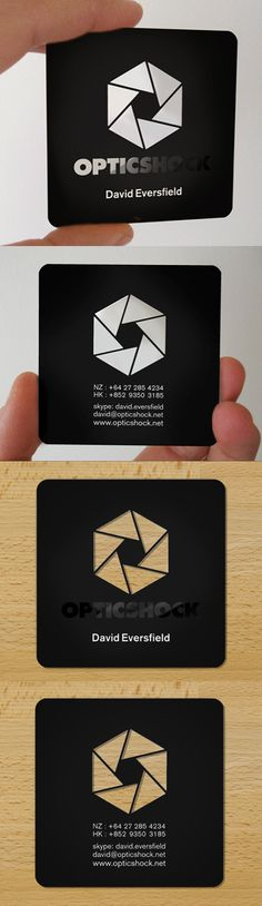 Slick Laser Cut Black Plastic Business Card Design