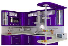 Love this red kitchen. Kitchen Cupboard Designs, Kitchen Room Design, Diy Kitchen Storage, Modern Kitchen Design, Home Decor Kitchen, Interior Design Kitchen, Purple Kitchen, Red Kitchen, Kitchen Prices