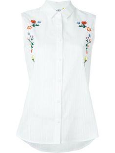 STEVE J & YONI P floral embroidery sleeveless shirt. #stevejyonip #cloth #shirt