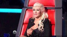 Christina Aguilera Half Up Half Down with a headband