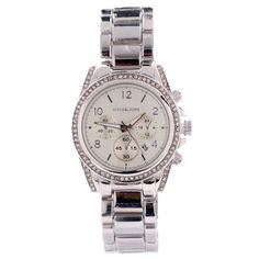 My new Michael Kors Blair Glitz Silver Watches~save 70% off!unbelievable cheap sale o.O you'll gonna love this site:D