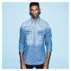 ack & Jones Oakland Western Denim Shirt (080060 - £44.99) available online and in store now #footasylum #jackandjones