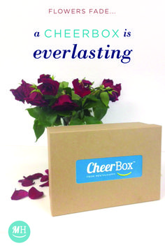 Flowers fade away in about 3 days.  For life's important moments show someone you care with a lasting and thoughtful Cheerbox from MentalHappy. Each Cheerbox has 4 wonderful happiness tools made with love from skilled crafters.  All Cheerboxes are assembled by hand and are customized especially for each recipient. Our mission is to make people happier...one Cheerbox at a time. Gift a Cheerbox to a loved one or yourself today & enjoy $10 OFF (Code: HappyHumans) + FREE SHIPPING