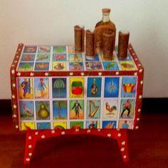 Mexican Bingo (Loteria) table.